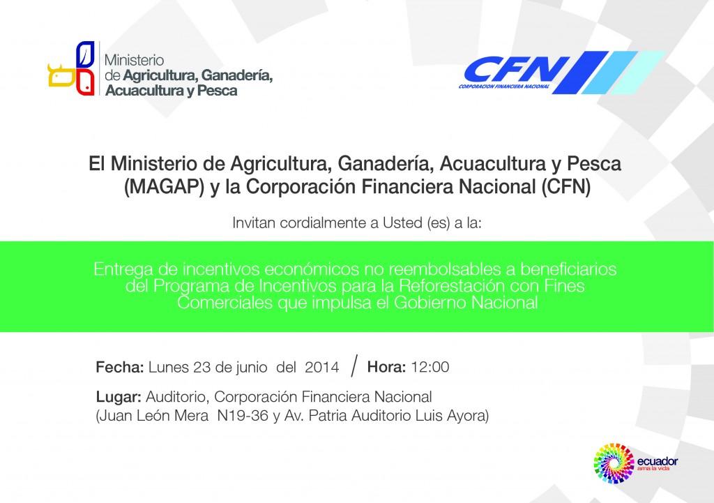 INVITACION ENTREGA INCENTIVOS FORESTALES QUITO