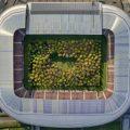 Este estadio en Austria se transformó en un bosque gigante